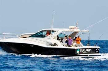Renta-de-yates-en-Cancun,-renta-de-yate-de-pesca--Uniesse-de-51-pies