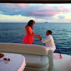 Renta de yates en Cozumel propuesta de matrimonio cena romantica pedida de mano