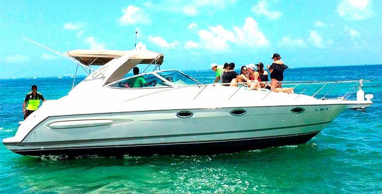 Renta de yates de lujo en cancun, renta de yates en cancun, renta de yates economicos, charter privado, charter de lujo, despedida de soltera, isla mujeres, cancun, puerto aventuras, cozumel, formula 34 pies