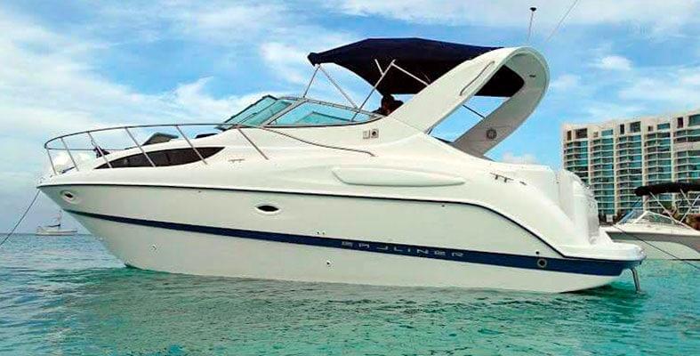 Renta de yates en cancun baylaner de 30 pies, charter privado, de lujo, charter privado, isla mujres, puerto morelos, puerto cancun,
