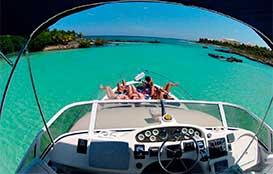 Renta de yates en Cancun, In-Ha, Tortugas, tour de snorkel en la bocana, yate sea ray de 40 pies
