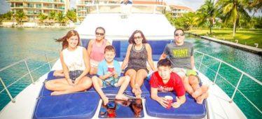 Renta de yates en Cancun, tour de snorkel, tulum, ruinas, mayas, yate sea ray de 40 pies, de lujo