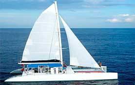 Renta de yates en Cancun, Catamaran, Puerto Aventuras,de lujo, tour de snorkel, 46 pies