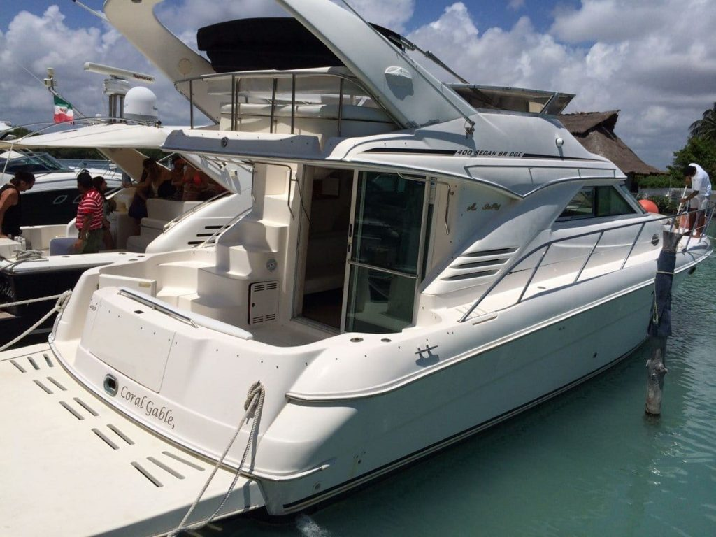 Renta de yates de lujo en cancun Sea Ray 40 pies