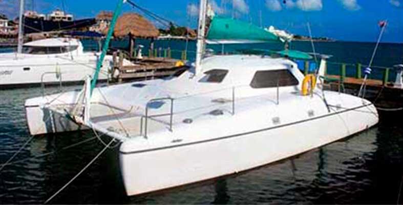 Renta de yates en Cancun, Renta de catamaran, Tour en Catamaran, Snorkel Tour, Isla Mujeres, Cancun, 35 pies, economico