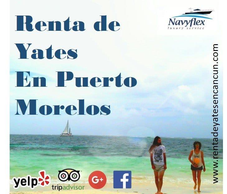 Renta de yate de lujo en Puerto Morelos para hacer Tour de snorkel con barra libre y comida