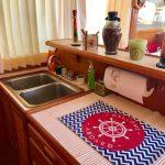 cocina de barco para pernocta en La Paz