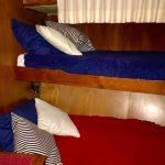 cuarto con dos camas de barco para pernocta en La Paz
