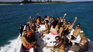 flydeck de barco para eventos en playa del carmen