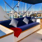 flydeck de barco para pernocta en La Paz