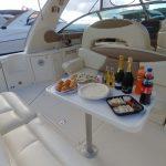 sea ray 41 popa con champagne en cancun