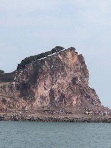 vista desde un barco de lujo en Mazatlan