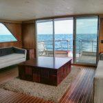 yate Custom 80 playa del carmen sala vista al mar
