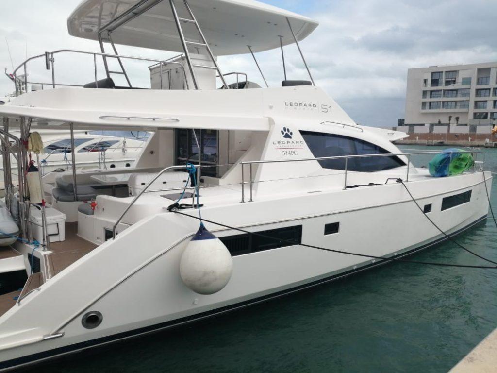 Leopard 50 catamaran para pernocta Riviera Maya